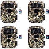 Covert MP8 Black Trail Game Wildlife Deer Hunting Camera + 16GB SD Card (4 Each)
