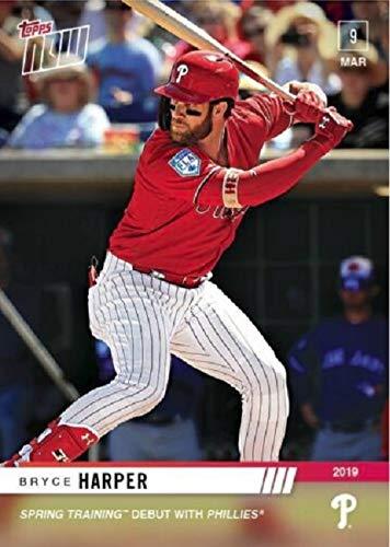 2019 Topps Now - Bryce Harper - Philadelphia Phillies Spring Training Debut Baseball Card - Only 2,868 made #ST4