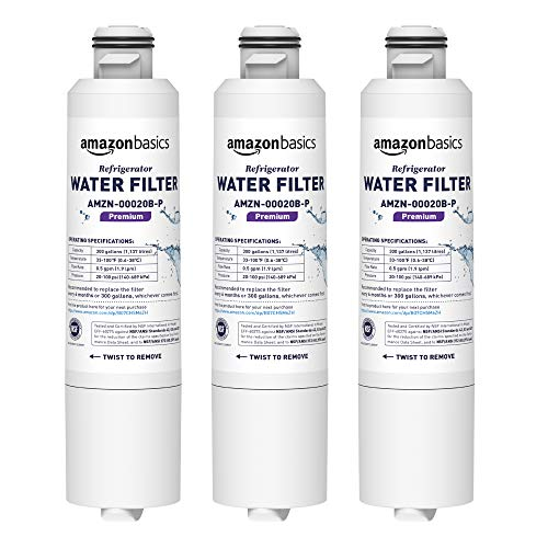 AmazonBasics Replacement Samsung DA29-00020B Refrigerator Water Filter Cartridge - Pack of 3, Premium Filtration (Best Value Refrigerator Reviews)