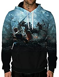 God of War Officially Licensed Merchandise Long Sleeve Lightweight Pullover Hoodie Sweatshirt