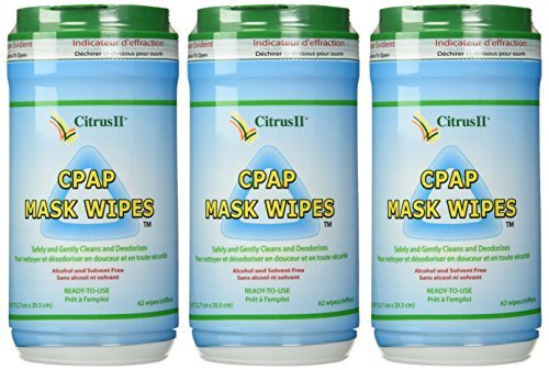 Citrus II Cpap Mask Wipes Qty: 62 Wipes - Pack of 3 by Citrus II