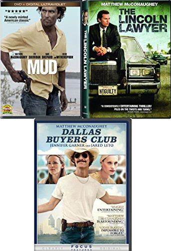 Matthew McConaughey Dallas Buyers Club Lincoln Lawyer & Mud Drama Triple Feature Movie Set Bundle