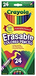 Crayola Erasable Colored Pencils, 24 Cou...