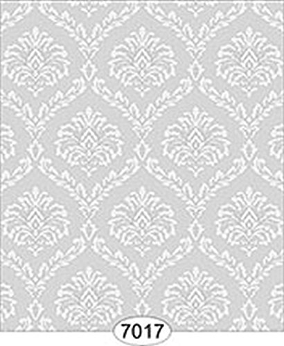 - Dollhouse Miniature Wallpaper - Ethereal Damask Grey