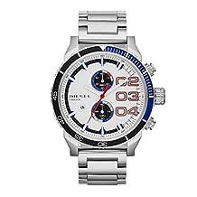 Diesel Men's Double Down 48 DZ4313 White Stainless-Steel Quartz Watch