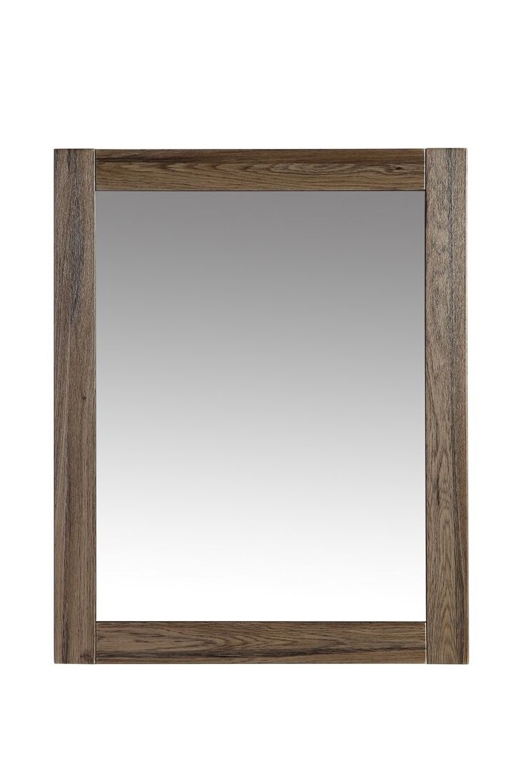 The Ivy Modern 24 Inch Wall Mounted Mirror by Flairwood Decor