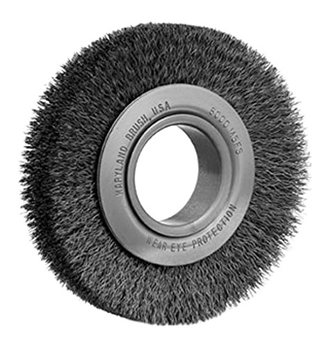 6 Medium Duty Wire Wheel 6 x 1-1//4 x 2 AH Maryland Brush 41086 M62006S 0.006 SS 6 Medium Duty Wire Wheel 6 x 1-1//4 x 2 AH Maryland Brush Company
