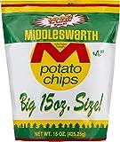 Middleswarth Kitchen Fresh Potato Chips! - Big Bag 15 Oz. (3 Bags)