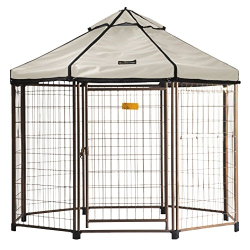 Advantek Select Pet Gazebo, Off White, Medium, Off-White by Advantek