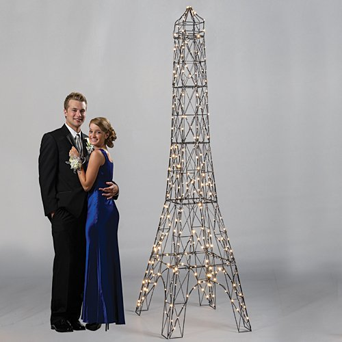 Shindigz Paris France Illuminated Eiffel Tower Photo Booth Prop Background Backdrop Party Decoration Scene Setter (2ft Eiffel Tower)