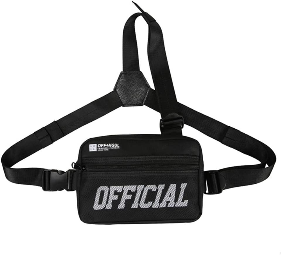 Men Women Hip Hop Fanny Pack Chest Bag Vest Shoulder Backpack Tactical Rig New