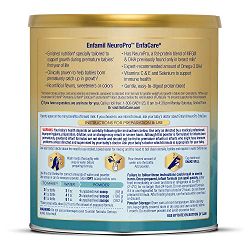 Enfamil NeuroPro EnfaCare Infant Formula - Brain Building Nutrition with Clinically Proven Growth Benefits for Premature Babies - Powder Can, 12.8 oz (Pack of 6) by Enfamil (Image #8)