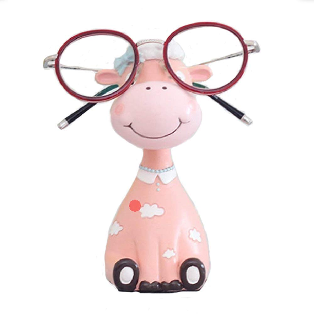 Cute Animal Glasses Stand Resin Crafts Lovely Eyeglasses Sunglasses Display Stand Holder Rack (D)