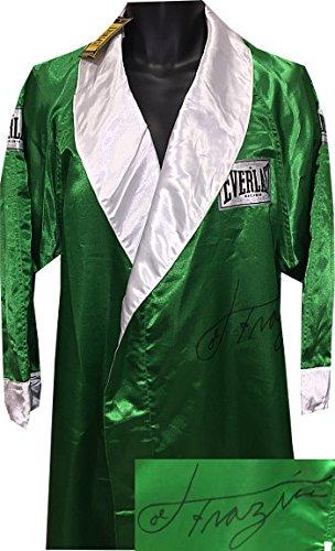 Athlon CTBL-019234 Joe Frazier Signed Everlast Official Full Length Boxing Robe - Deceased - PSA Hologram No.Aa18547 - Green by Athlon