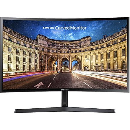 Samsung Cf396 Series Super Slim Curved 27 Inch Full Hd 16 9 Led Backlit Monitor With Amd Freesync  1080P  60Hz  4Ms  Game Mode  Eye Saver Mode  Vesa Mount  Hdmi  Vga  Black