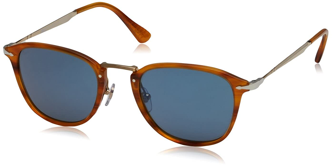 5411a8c597e Amazon.com  Persol Mens Sunglasses (PO3166) Brown Blue Acetate - Non- Polarized - 49mm  Persol  Clothing