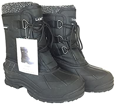 Amazon.com | LABO Men's Snow Boots Waterproof Insulated 5