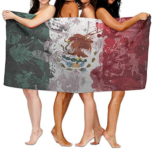 Zhousyydl 80 CM X 130 CM Bath Towel,Abstract Painting Mexican Flag 100% Polyester Cashmere Soft Microfiber Beach Shower Towel by Zhousyydl
