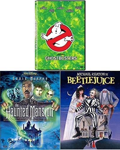Kooky, spooky Ghost Comedy fun Beetlejuice / Ghostbusters & Disney Haunted Mansion Triple Feature DVD Set ()