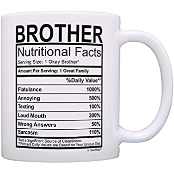 graduation gifts for brother nutritional facts label funny gifts for brother gag gift coffee mug tea