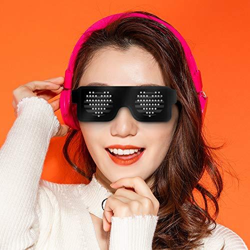 SUGOO Birthday Gift for Teen Boys, LED Glasses Fun Sunglasses Light up Glasses Party Gift for 7-15 Year Old Youth Boys Bar Festivals Gift