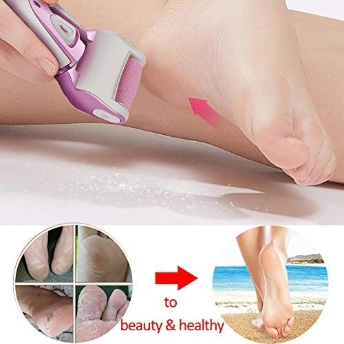 Blue Stones Electric Sawing Foot File For Foot Care Tool Pedicure Machine Peel Skin Roller Callus Remover for Man Women Heel Foot