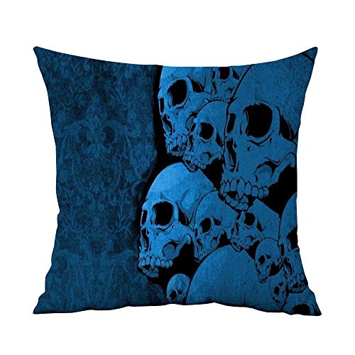 CRICKOOM Decorative Hidden Zipper Cotton and Polyester Dark Art Artwork Fantasy Artistic Original Horror Evil Creepy Scary Spooky Halloween Wallpaper HD W23.8 x L23.8,Throw Pillows for Couch Set -