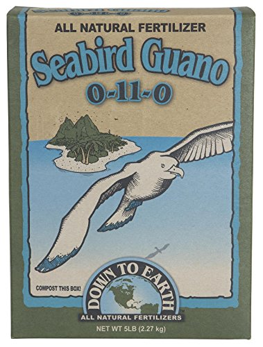 51RE2HVQcnL Down To Earth All Natural Seabird Guano 0-11-0 Fertilizer, 5 lb - for carrots and potatoes, and bigger blossoms on flowers