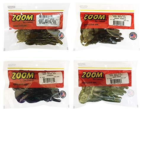 Bundle: Zoom Baby Brush Hog Bait Lures - 5 1/4