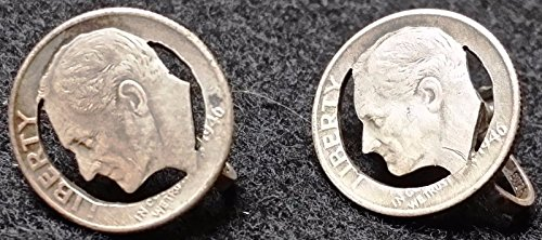 Unbranded 1946 ROOSEVELT SILVER DIME SET OF PINS 90% SILVER