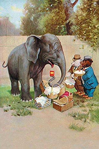 Buyenlarge 0-587-21323-x-G1827 'Bear's Picnic Elephant Trunk' Giclee Fine Art Print, 18