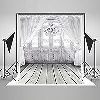 5x7ft Wedding Photo Background 3D White Chandelier Doors for Wedding Photo Studio Backdrop JXUS-LK-2086-1