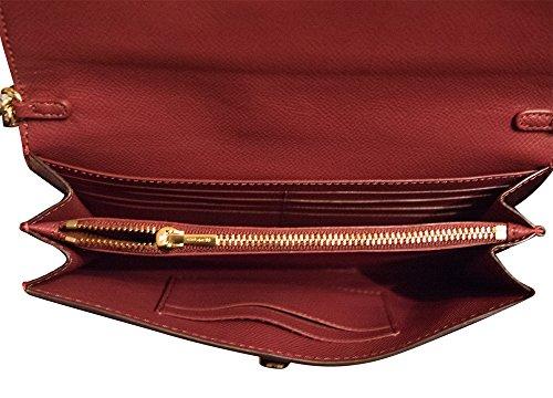 Cherry Chain Metallic Leather Clutch Handbag Metallic Coach Crossbody EHPq0xwc1