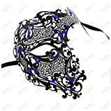 Face mask Shield Veil Guard Screen Domino False Front Villain Horror Half face Sly Metal Diamond mask Dance mask Halloween Venice Gold and Silver mask 5