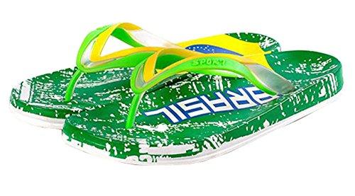 Flip Flops Green Casual Sommer Strand Slips Sandalen - Brasilien