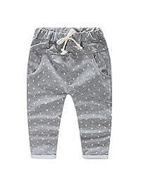 LittleSpring Little Boys' Slim Long Pants Pockets