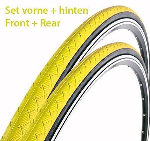 2x Zaffiro Fahrrad Reifen vorne und hinten 700c Singlespeed Gelb
