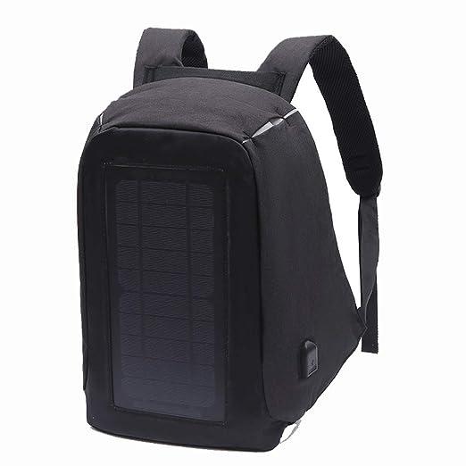 WWJIE Mochila Solar, Bolsa de Estudiante, Panel Solar, Cargador de ...