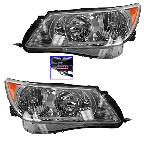 Headlights Headlamps Left & Right Pair Set for 10-13 Buick LaCrosse