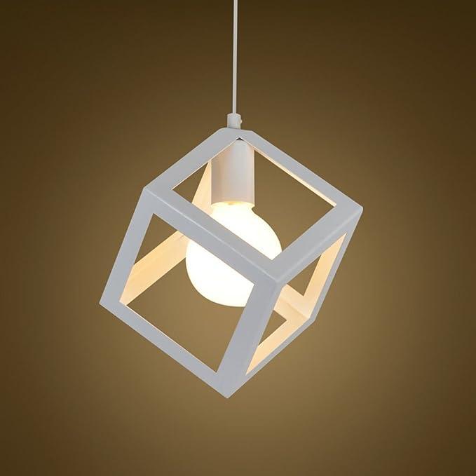 Lámpara Colgante Iluminación de techo Lustre DIY del metal Jaula ...
