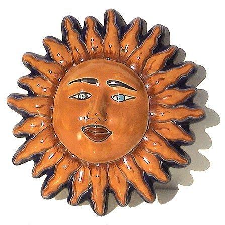 (Fine Crafts Imports Talavera Ceramic Sun Face)