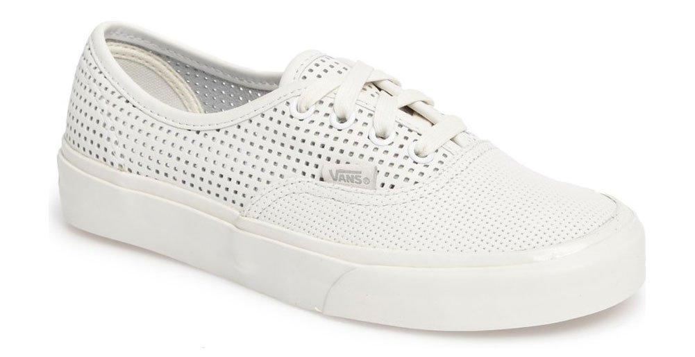 Authentic DX Square Perf Sneaker (11.5 B(M) US Women/10 D(M) US Men, Blanc De Blanc)