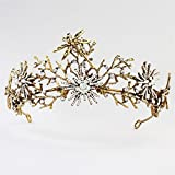 Weddwith Hair Accessories Tiara Baroque Style Bride Crown Crown Earrings Two-piece Crown Design Alloy Crown (3 Packs)