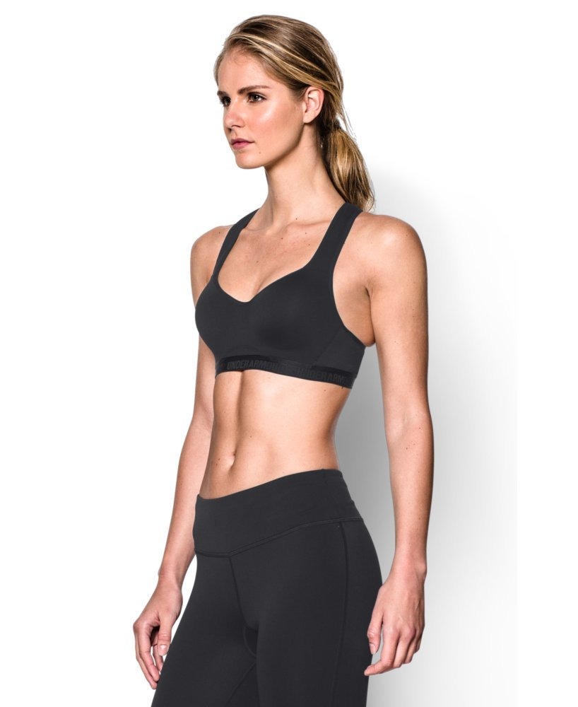Under Armour Women's Armour High Bra, Black (001)/Black, 32A by Under Armour (Image #3)