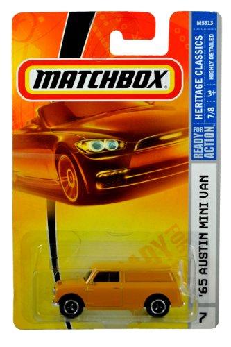 (Mattel Year 2007 Matchbox MBX Heritage Classics Series 1:64 Scale Die Cast Car #26 - Yellow 2-Door '65 AUSTIN MINI VAN (M5313))