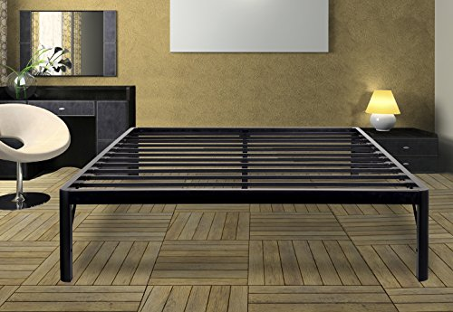 Olee Sleep 14 Inch Tall Round Edge Steel Slat Non Slip Support Bed Frame S 3500  Olr14bf10k  King