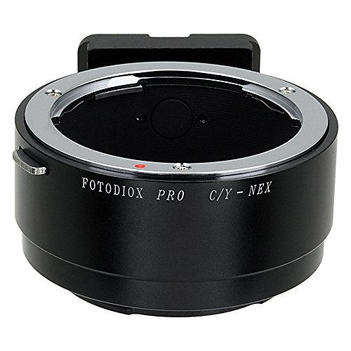Fotodiox Pro Lens Mount Adapter - Contax/Yashica (CY) SLR Lens to Sony Alpha E-Mount Mirrorless Camera Body ()