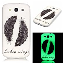 S3 Case, Galaxy S3 Case, SATURCASE Luminous Fluorescent Glow Ultra Thin Soft TPU Gel Silicone Back Case Cover for Samsung Galaxy S3 SIII I9300 (Color-11)