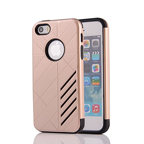 HYAIT® For IPHONE 5S/SE [CONTRAST]Case Dual Layer Hybrid Armor Rugged Plastic Hard Shell Flexible TPU Bumper Protective Cover-XJAE05