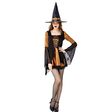 PU-FESTIVAL Traje de Bruja de Halloween Cosplay Traje de ...